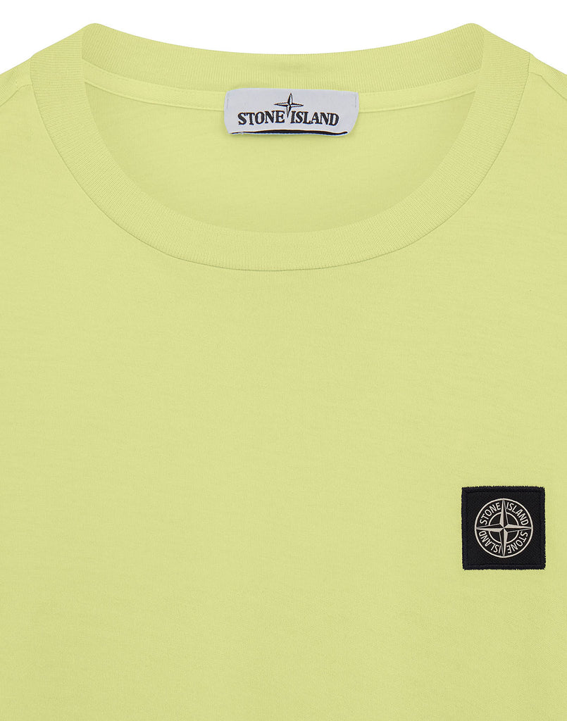 24113 Garment Dyed Cotton Jersey T-Shirt in Limone