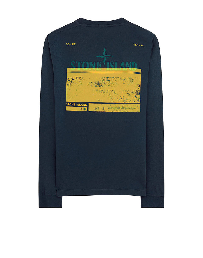 2Ml66 'BLOCK TWO' T-Shirt in Aviation Blue