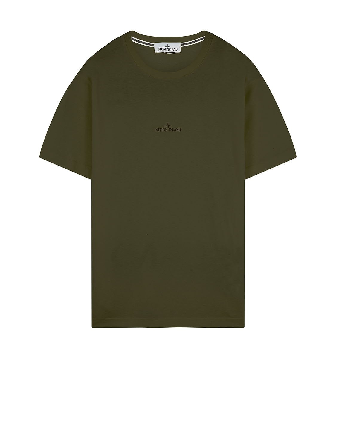 2NS85 'MARBLE THREE' T-Shirt in Olive Green