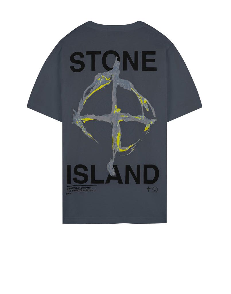 2NS85 'MARBLE THREE' T-Shirt in Pewter Grey