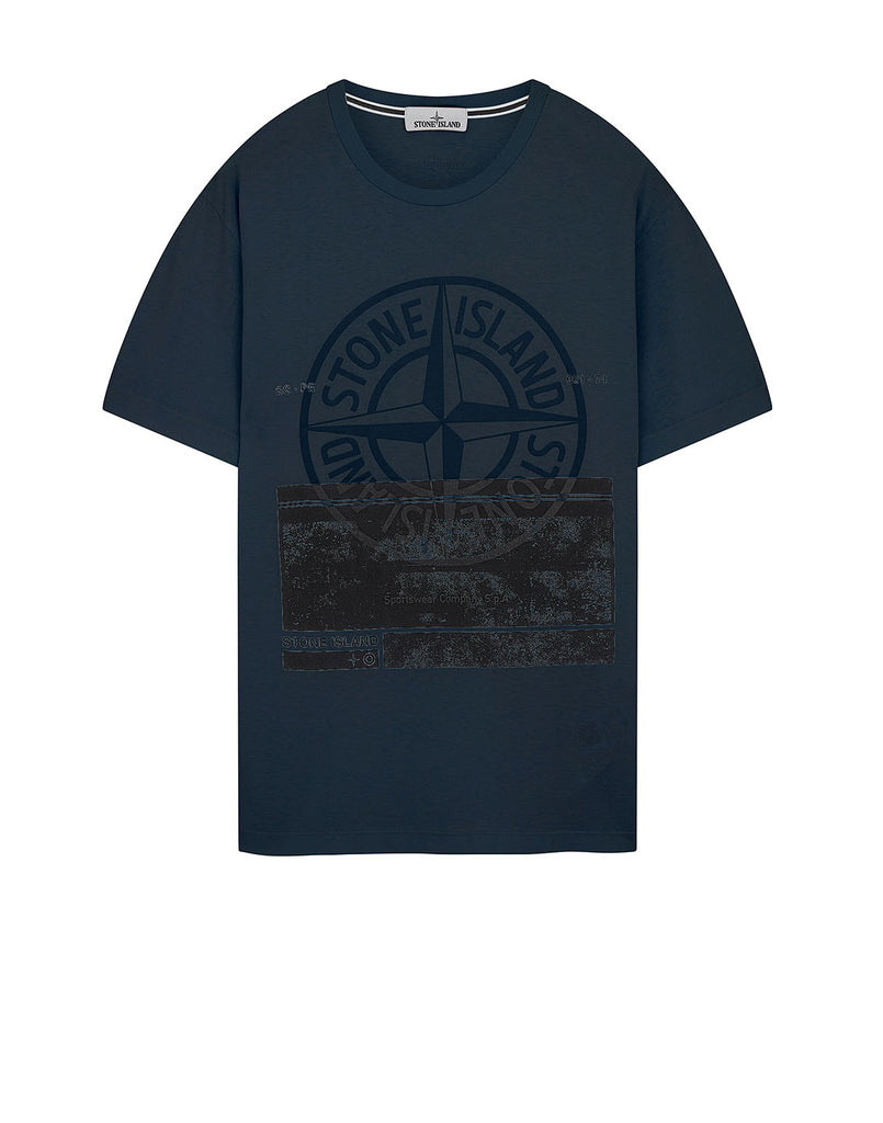 2NS65 'BLOCK ONE' T-Shirt in Aviation Blue