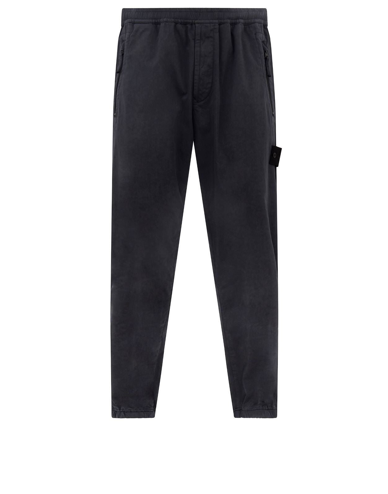 317F2 GHOST PIECE_STRETCH COTTON WOOL SATIN Pants in Navy