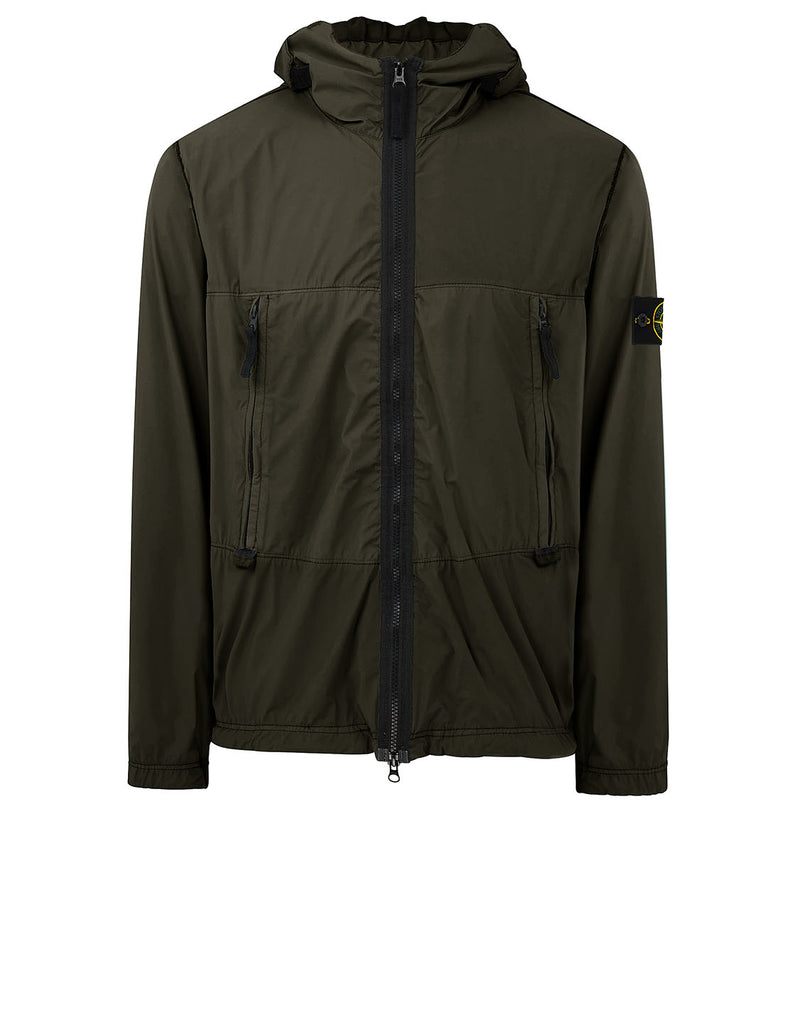 40131 SKIN TOUCH NYLON-TC Jacket in Olive Green