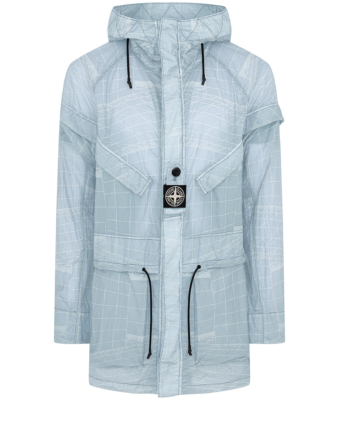 42999 REFLECTIVE GRID ON LAMY-TC Parka in Sky Blue