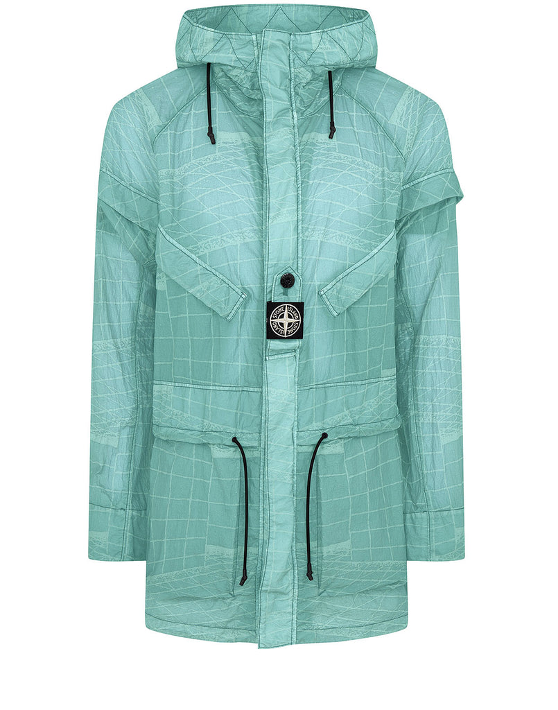 42999 REFLECTIVE GRID ON LAMY-TC Parka in Aqua