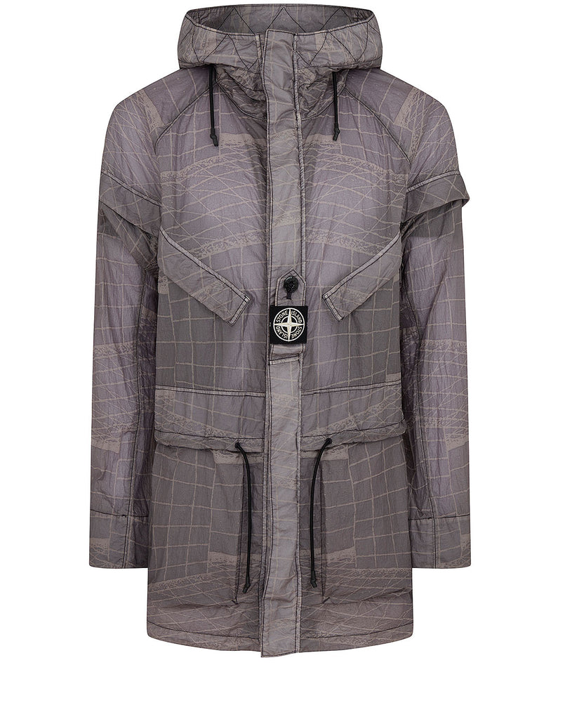 42999 REFLECTIVE GRID ON LAMY-TC Parka in Pewter Grey