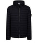 44525 LOOM WOVEN DOWN CHAMBERS STRETCH NYLON-TC Jacket in Black