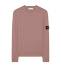 504B2 Garment Dyed Cotton Sweater in Rose Pink