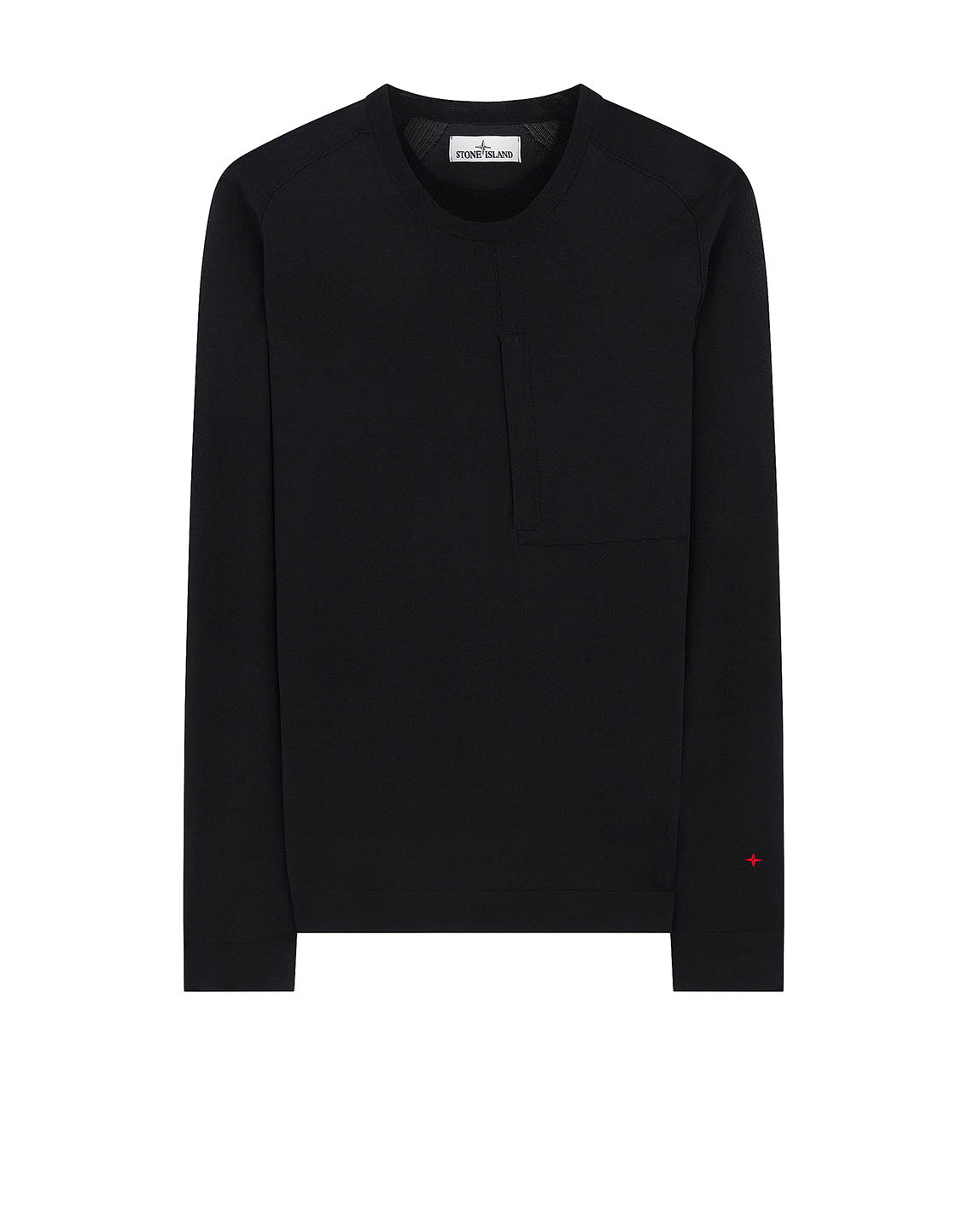 570XA STONE ISLAND MARINA TECHNICAL COTTON / NYLON YARN_THERMO-REGULATOR Knitwear in Black