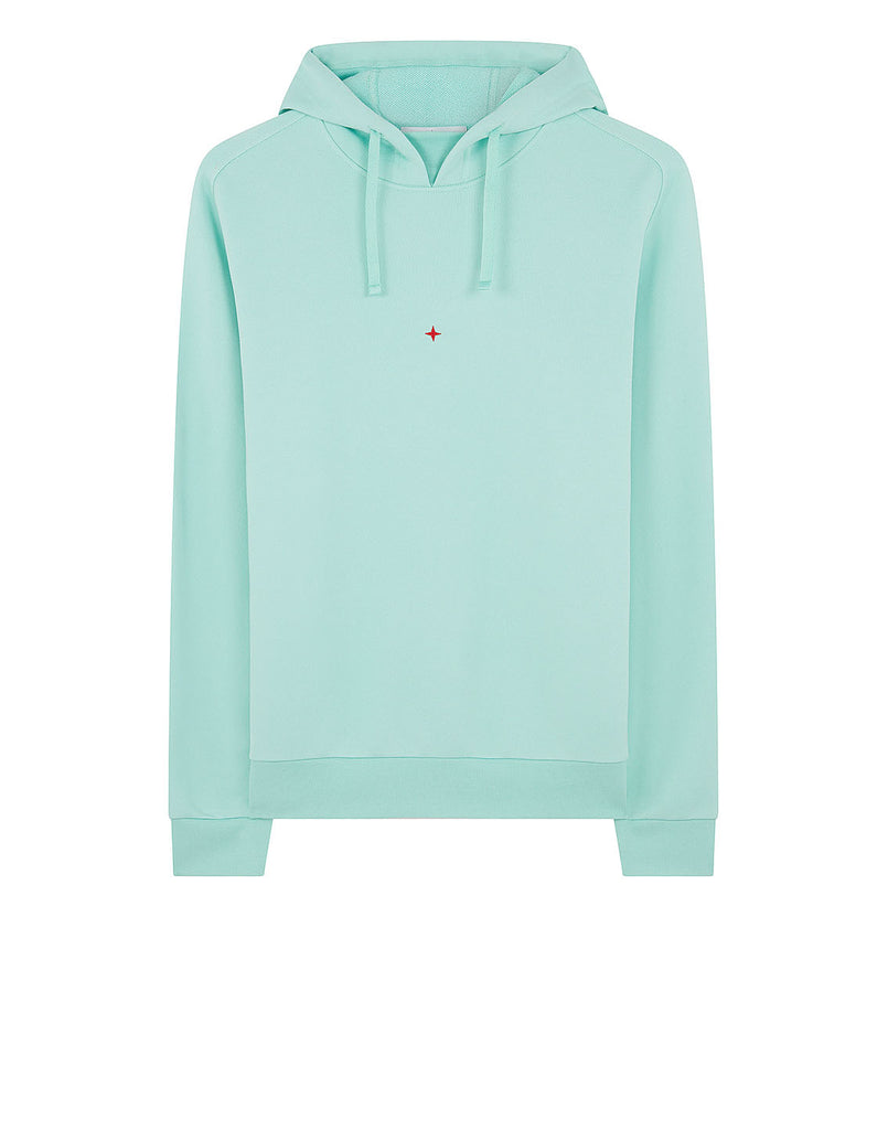 617X2 STONE ISLAND MARINA COTTON/POLYESTER SEAQUAL® YARN FLEECE Sweatshirt in Aqua