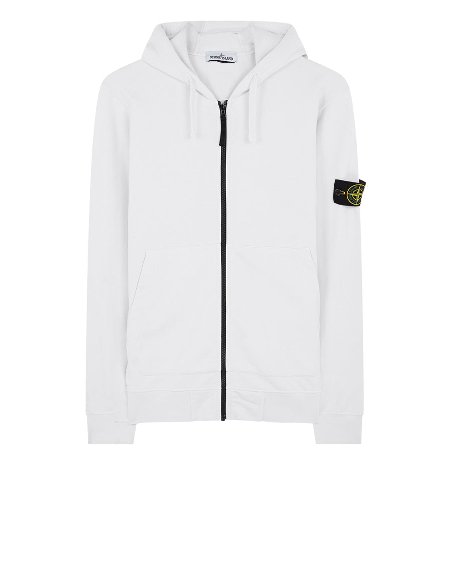 64251 Zip Sweatshirt in White