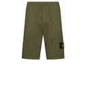 64651 Fleece Shorts in Olive Green