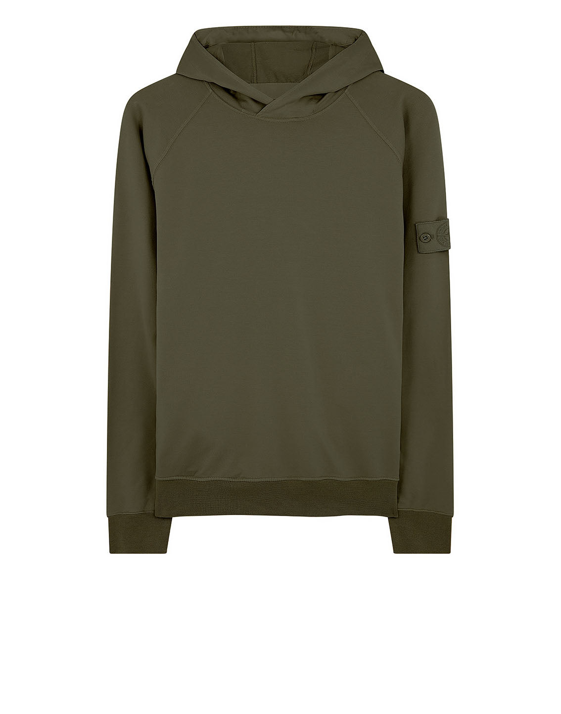 653F3 GHOST PIECE_COTTON STRETCH FLEECE Sweatshirt in Military Green