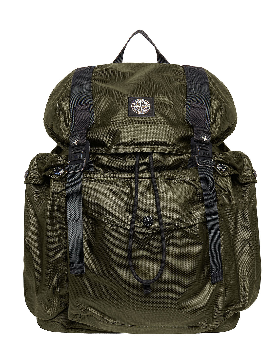 90370 MUSSOLA GOMMATA CANVAS PRINT Rucksack in Olive Green