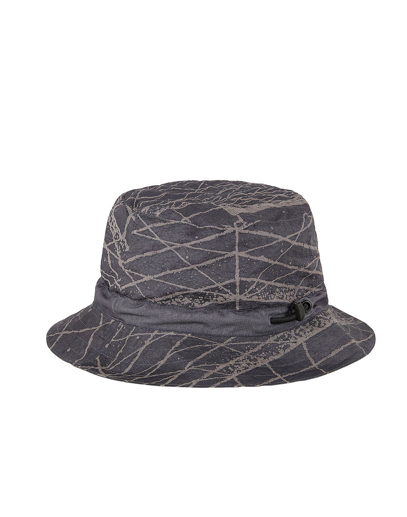 99898 REFLECTIVE GRID ON LAMY Packable Hat in Pewter Grey