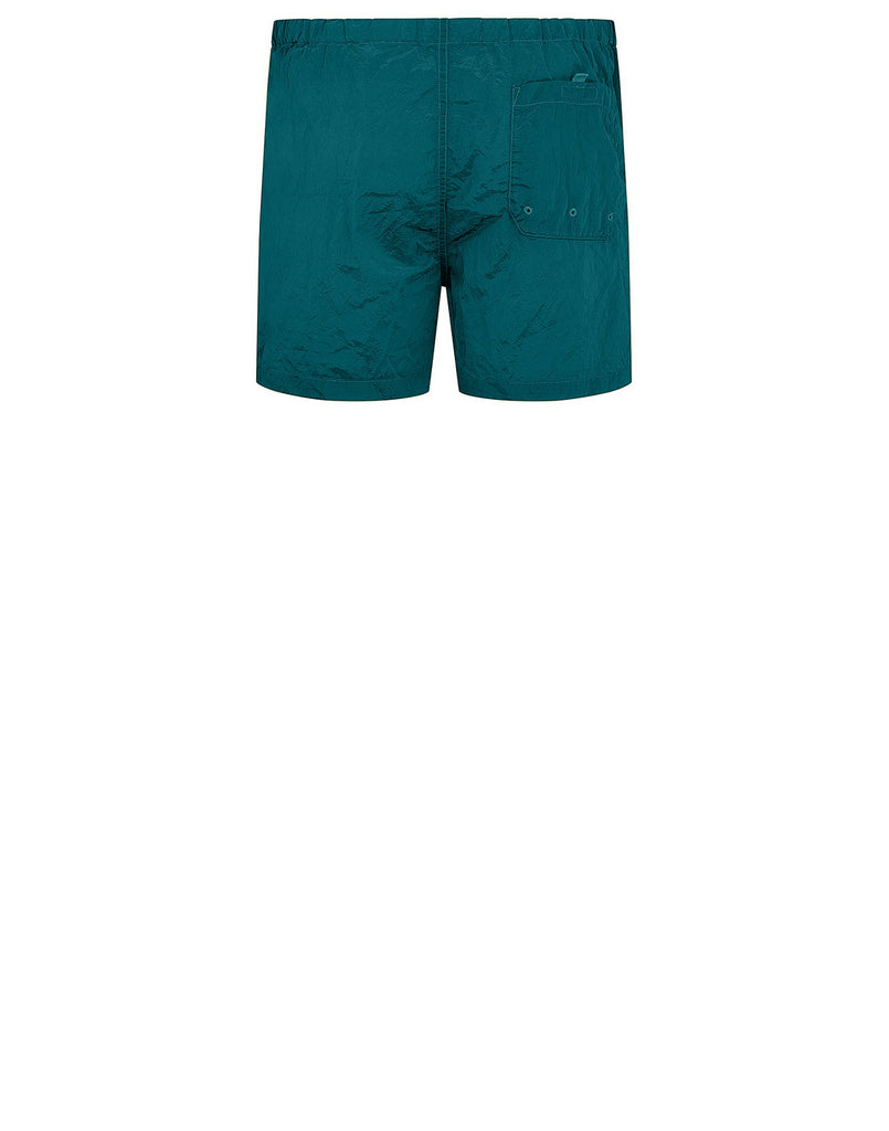 B0643 NYLON METAL Shorts in Turquoise