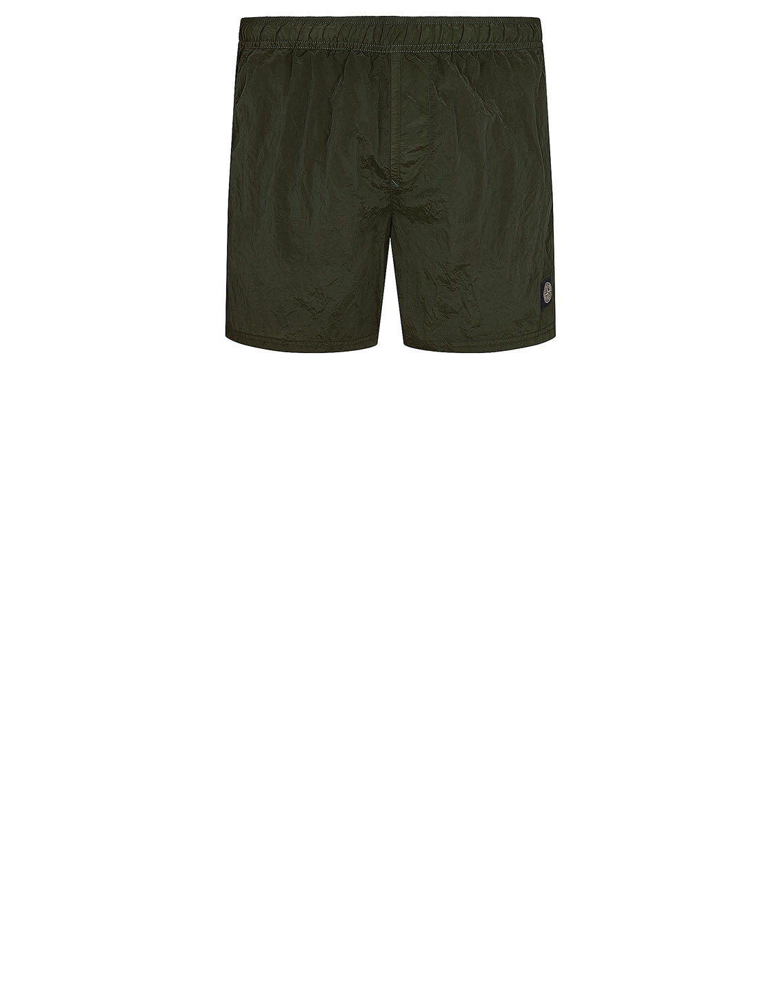 B0943 NYLON METAL Shorts in Olive Green