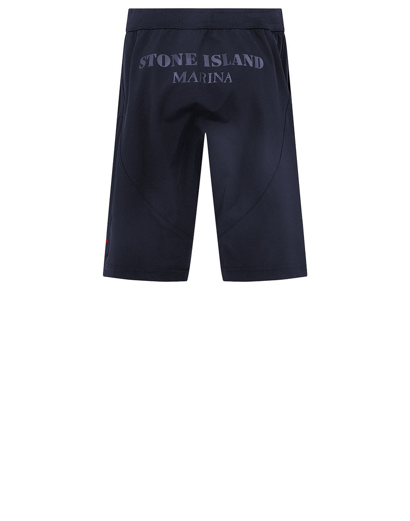 L15X4 STONE ISLAND MARINA TWO-WAY STRETCH RECYCLED NYLON TWILL Shorts in Dark Blue