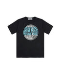 21052 'PIN CAMO' PRINT T-Shirt in Black