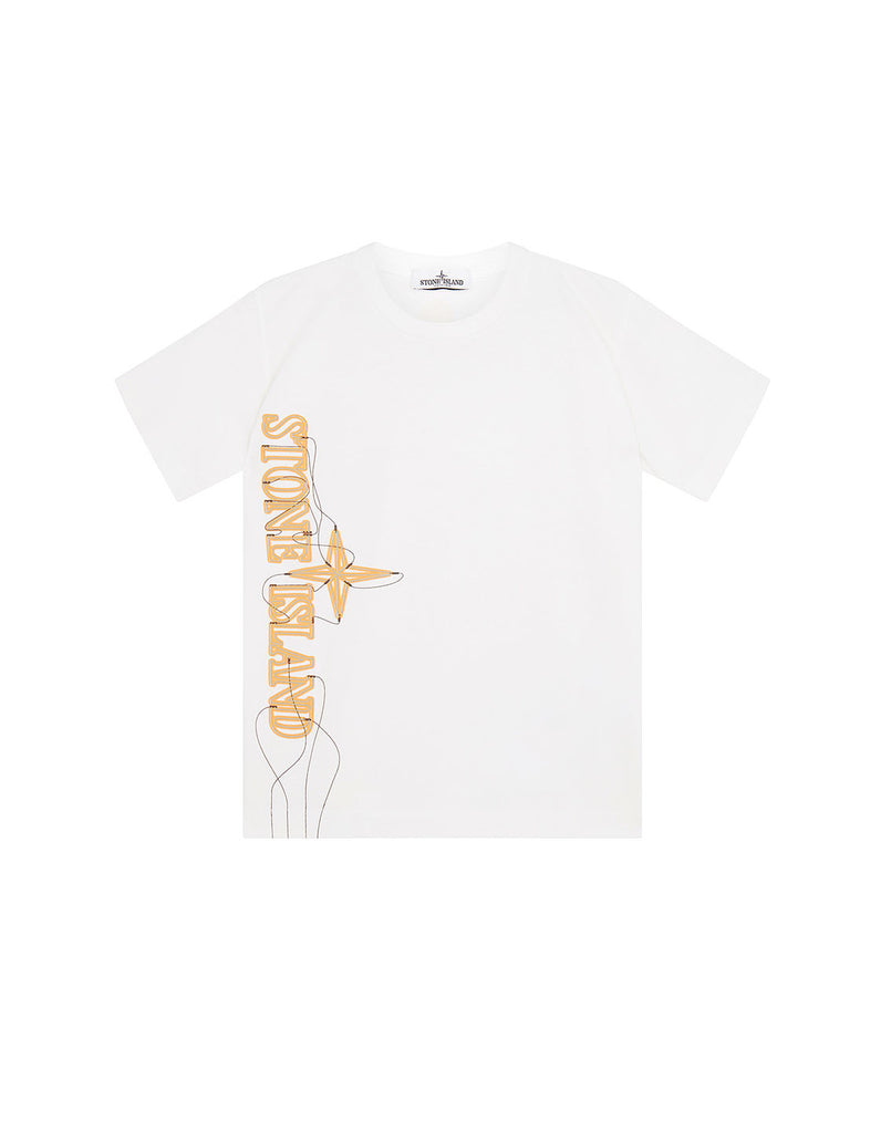 21059 'NEON LIGHTS TWO' PRINT T-Shirt in White