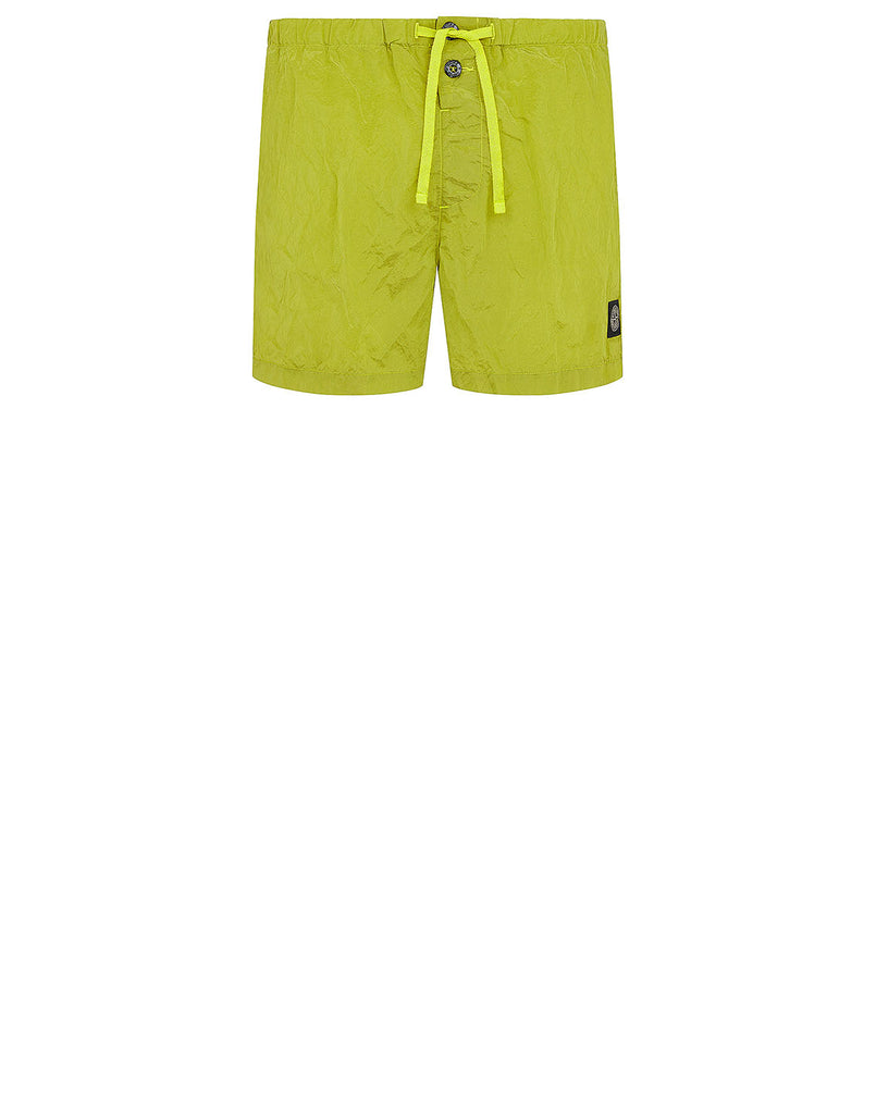 B0643 NYLON METAL Shorts in Pistachio