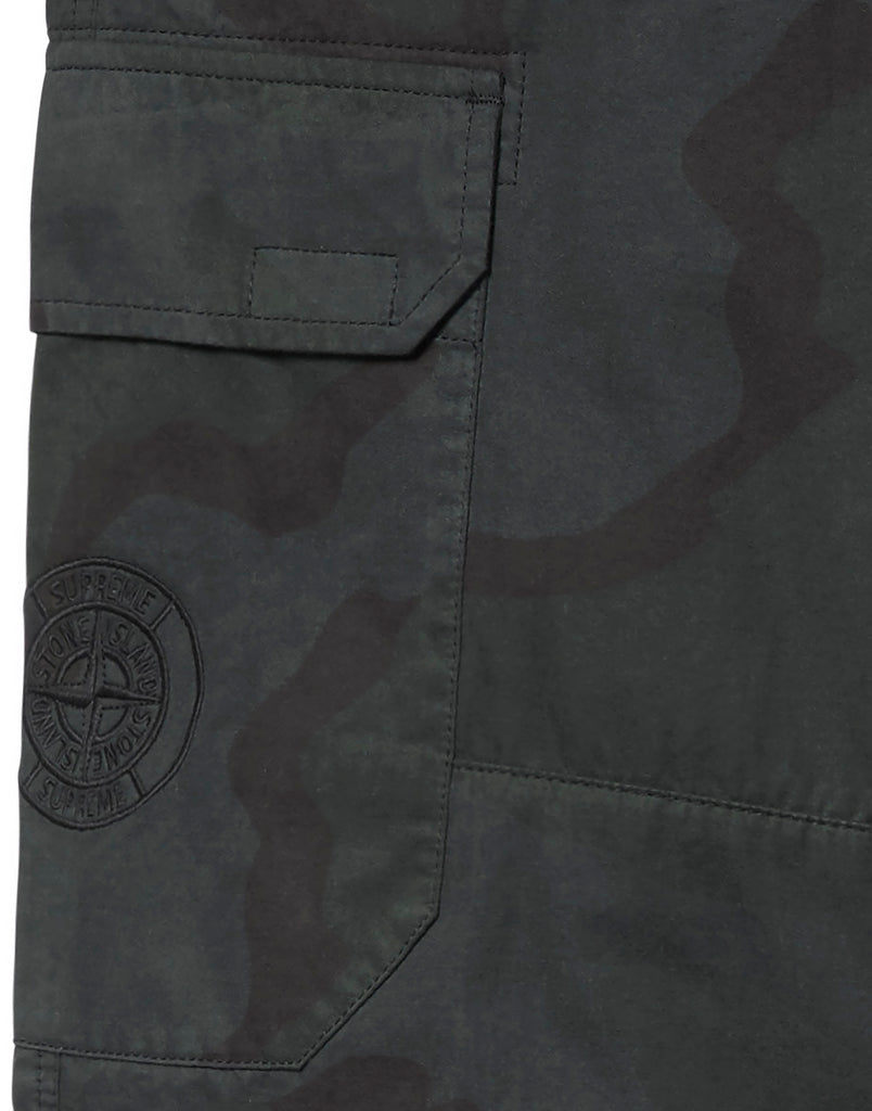 301S4 BRUSHED COTTON 2C CAMO-OVD Trousers in Black