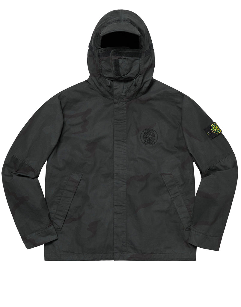 401S4 BRUSHED COTTON 2C CAMO-OVD Jacket in Black