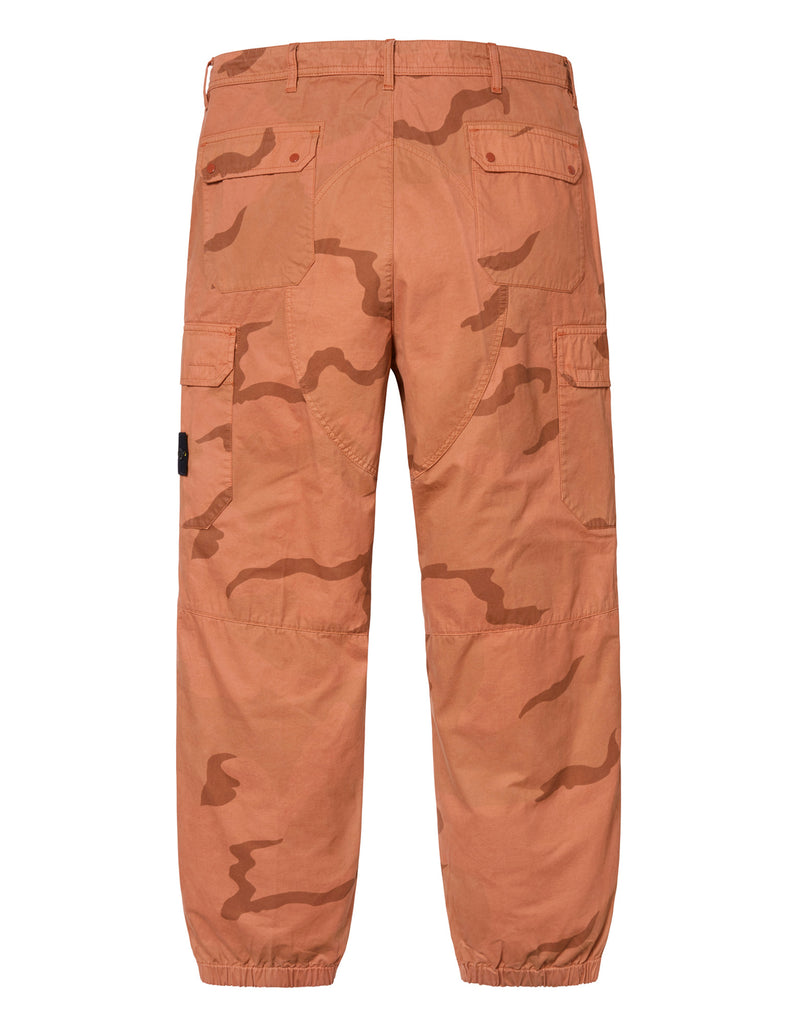301S4 BRUSHED COTTON 2C CAMO-OVD Trousers in Orange