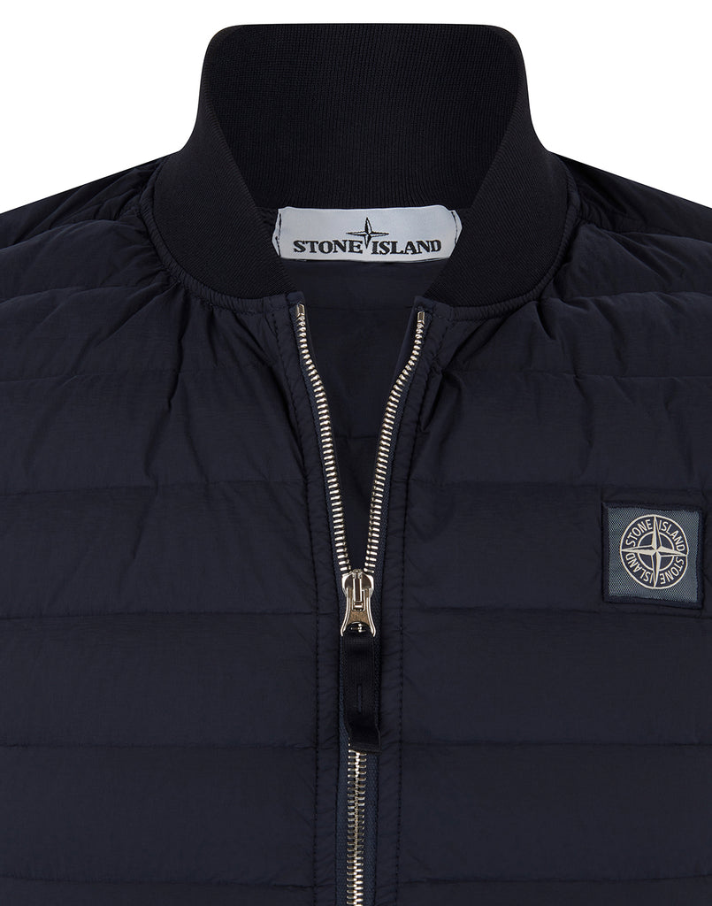 G0225 LOOM WOVEN DOWN CHAMBERS STRETCH NYLON-TC Jacket in Navy