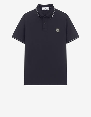 22S18 Patch Program Polo Shirt in Navy Blue