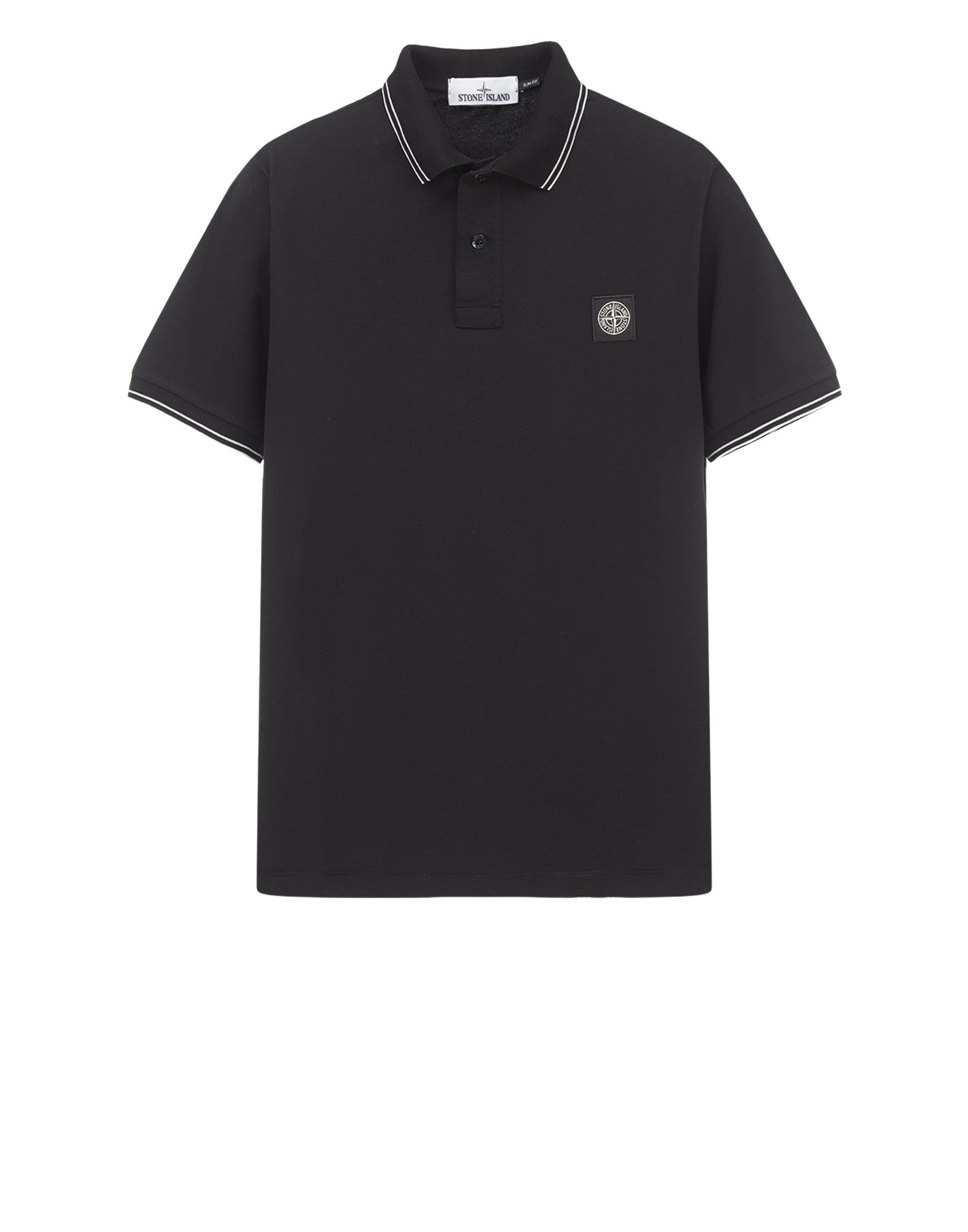 22S18 Patch Program Polo Shirt in Black