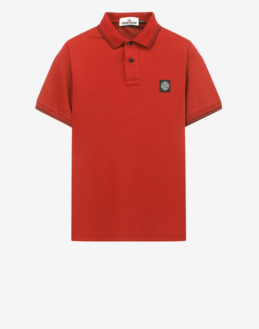 22s18 Patch Program Polo Shirt In Red