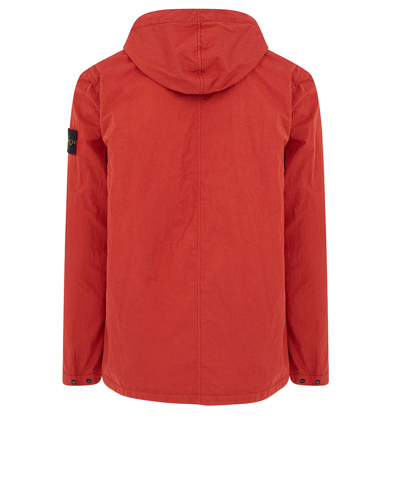 10608 Hooded Overshirt in Red