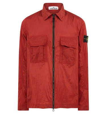 c00a00b555a 11117 NYLON METAL RIPSTOP Overshirt in Brick Red