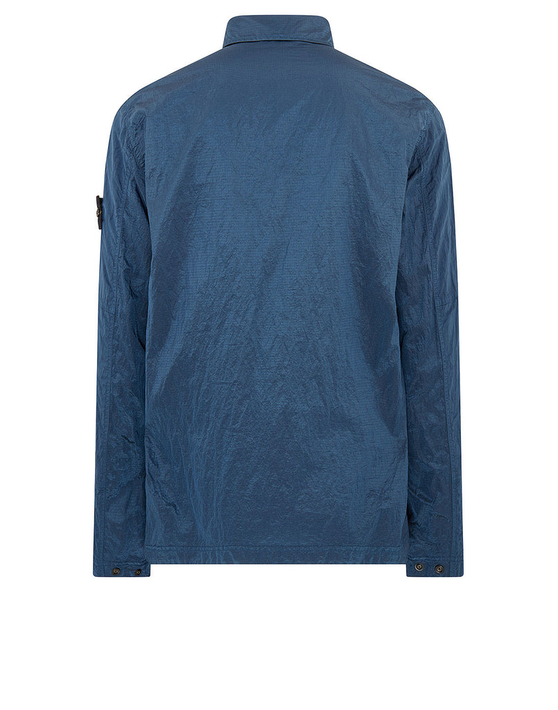 11117 NYLON METAL RIPSTOP Overshirt in Blue Marine