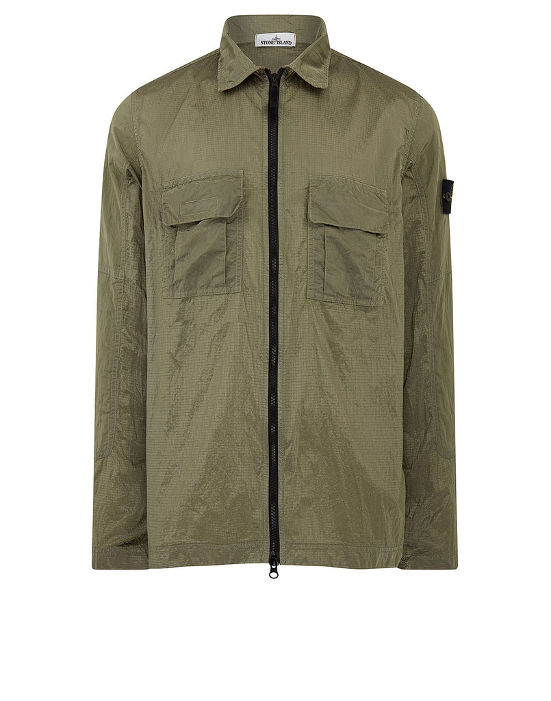 11117 NYLON METAL RIPSTOP Overshirt in Sage