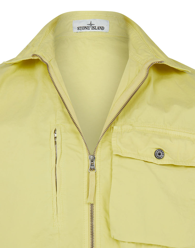 121WN OLD DYE TREATMENT Overshirt in Lemon