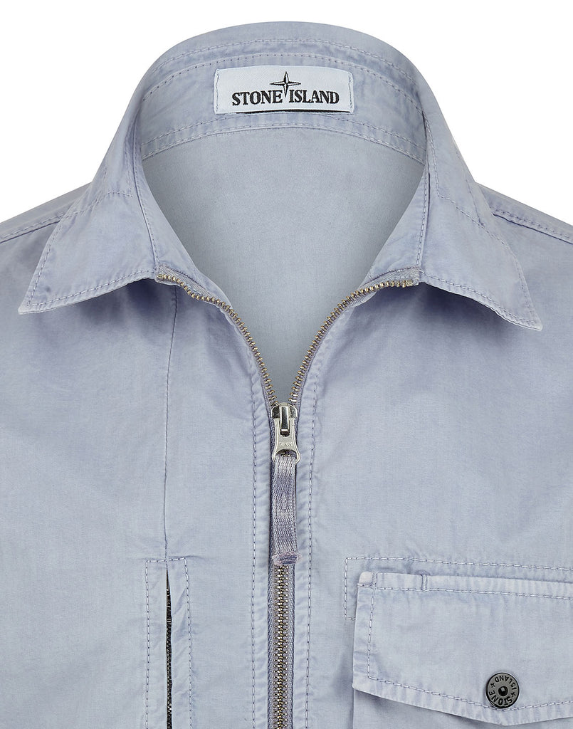 121WN OLD DYE TREATMENT Overshirt in Lavender