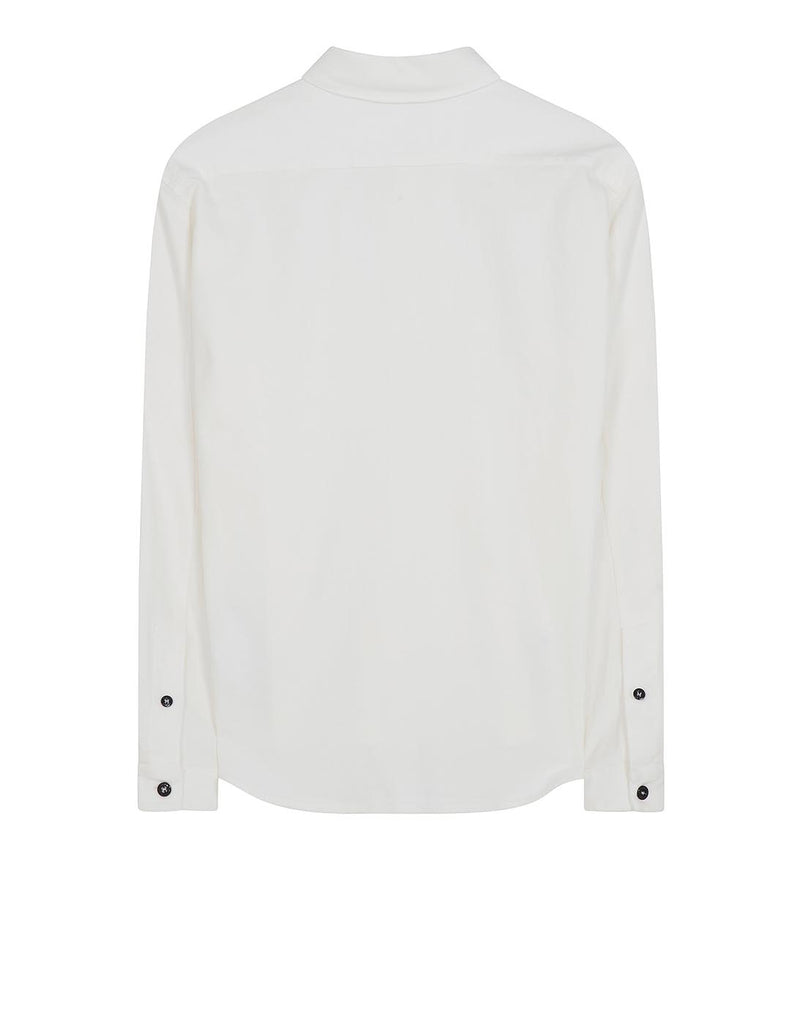 12502 Moleskin Cotton Shirt in White