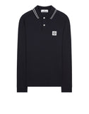 22016 Long Sleeve Polo Shirt in Navy Blue