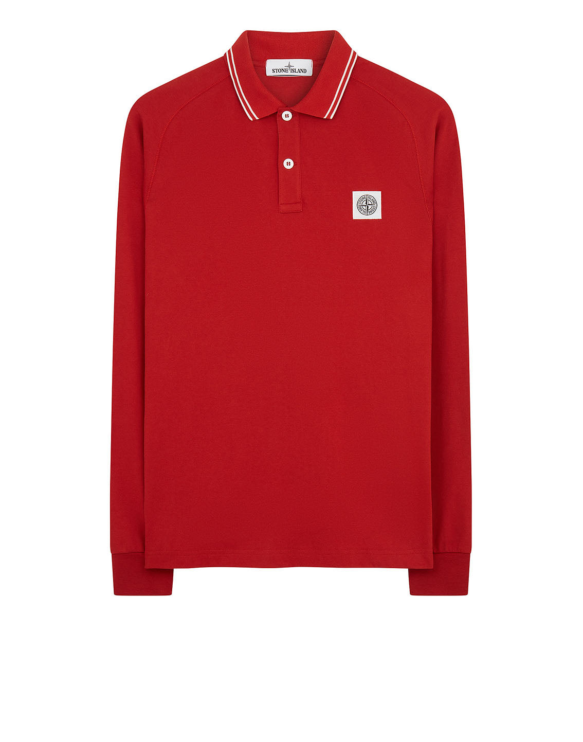 22016 Long Sleeve Polo Shirt in Red