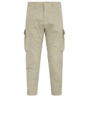 314F2 GHOST PIECE_COTTON NYLON TELA Trousers in Beige