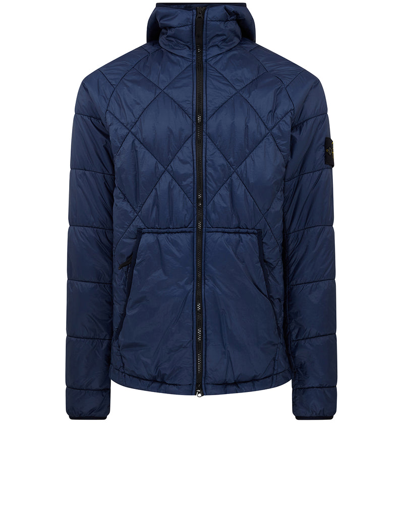 40324 GARMENT DYED QUILTED MICRO YARN Jacket in Blue Marine