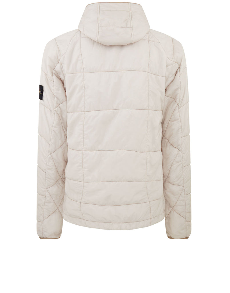 40324 GARMENT DYED QUILTED MICRO YARN Jacket in Plaster