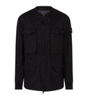 406F1 GHOST PIECE_50 FILI RESINATA Jacket in Black