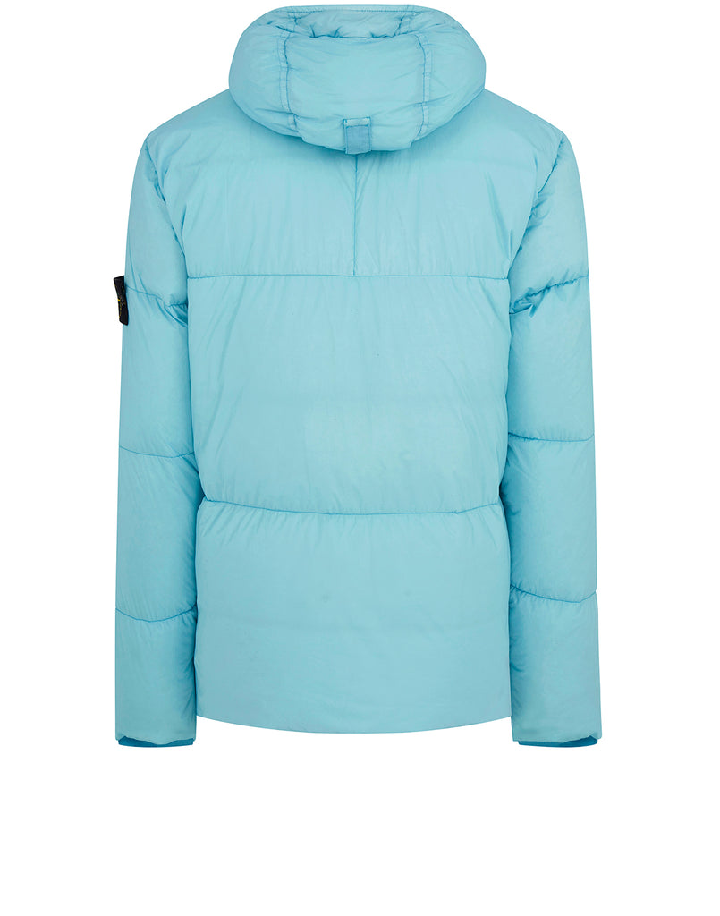 40723 GARMENT DYED CRINKLE REP NY Real Down Jacket in Aqua