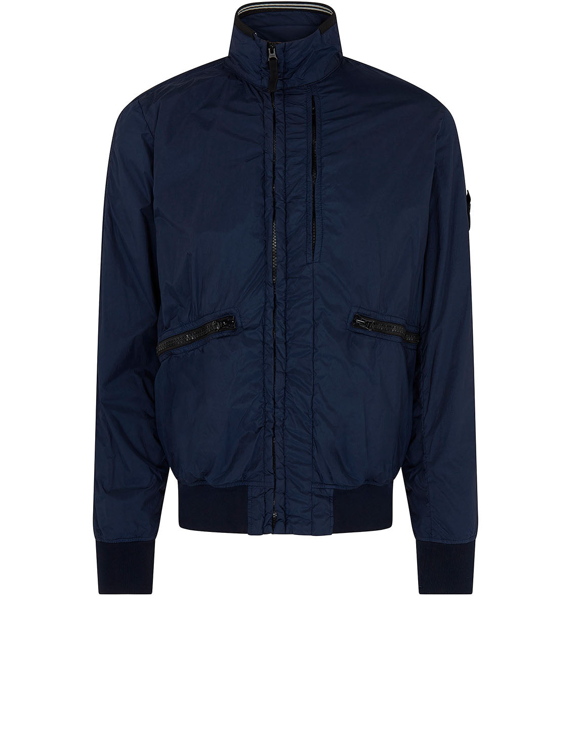 40930 GARMENT DYED CRINKLE REPS NY Jacket in Blue Marine