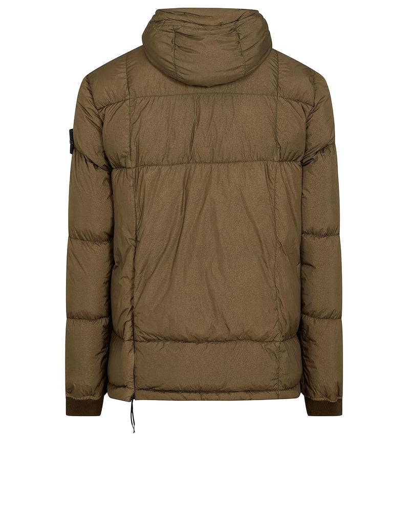 41323 GARMENT-DYED CRINKLE REPS NY DOWN Jacket in Olive