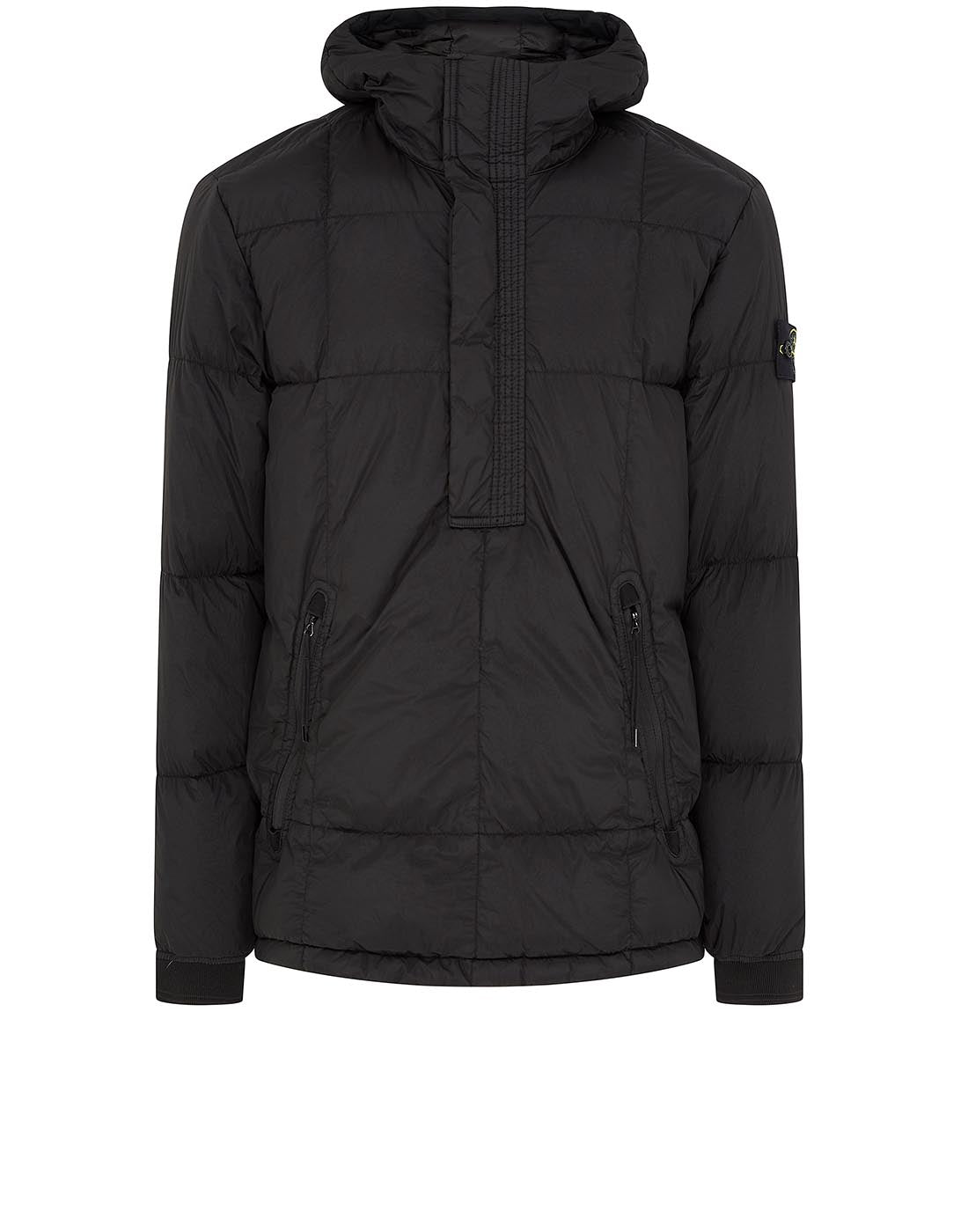 41323 GARMENT-DYED CRINKLE REPS NY DOWN Jacket in Black