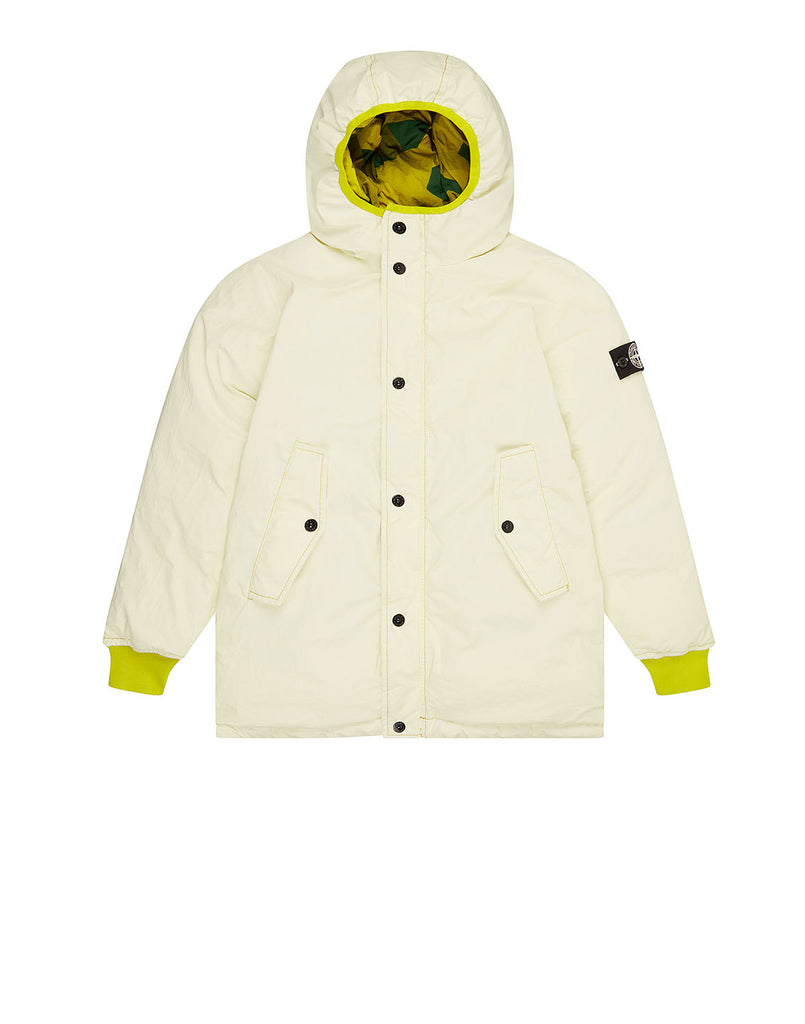 41336 GARMENT DYED PLATED REFLECTIVE_REVERSIBLE Jacket in Yellow